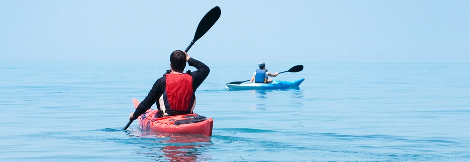 Auf hoher See mit selbstgedrucktem Kajak