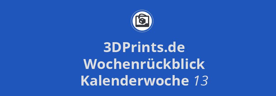 """Wochenrückblick KW 13 – Schokoladen 3D-Drucker für unter 100 US-$, Dokumentation """"Print The Legend"""", Mamba3D bald auf Kickstarter"""