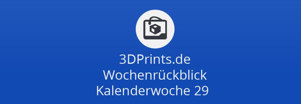 Wochenrückblick KW 29 – 3D-gedrucktes Eis, abspielbare Schallplatten, Kopfhörer